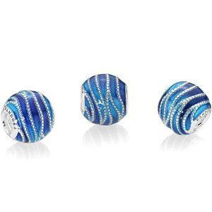 Pandora Blue Swirls Charm